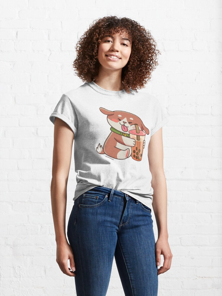 Alternate view of Cute Dog Boba Artwork Classic T-Shirt