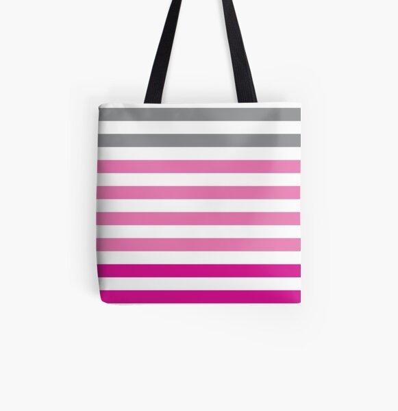 Stripes Gradient - Pink Tote bag doublé