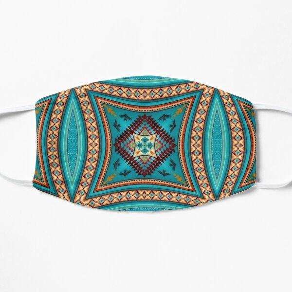 Turquoise Pattern Native American Style Version 2 Flat Mask