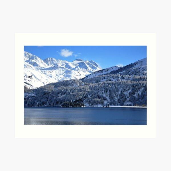 Swiss Mountain Grandeur, St. Moritz, Switzerland Art Print