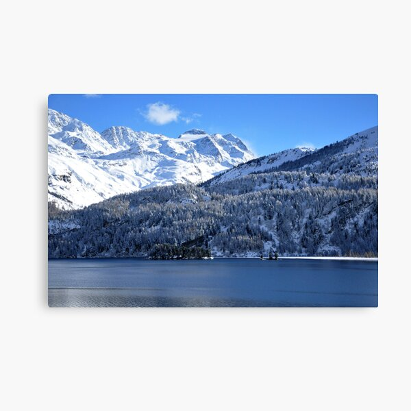 Swiss Mountain Grandeur, St. Moritz, Switzerland Canvas Print