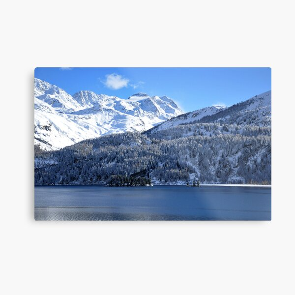 Swiss Mountain Grandeur, St. Moritz, Switzerland Metal Print