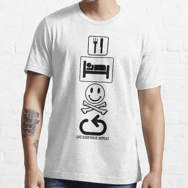 Eat. Sleep. Rave. Repeat. - Symbols Essential T-Shirt