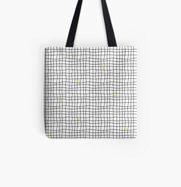 Carreaux - Yellow Tote bag doublé