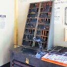 Vintage Slug Cutter in Print Shop by Susan Savad