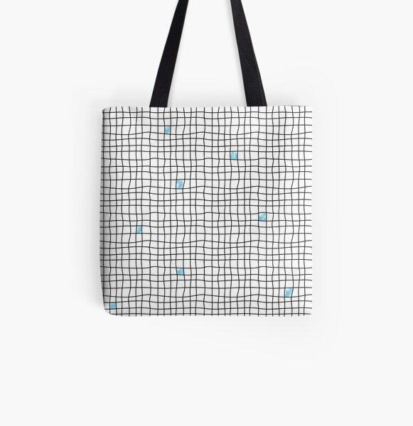 Carreaux - Blue Tote bag doublé