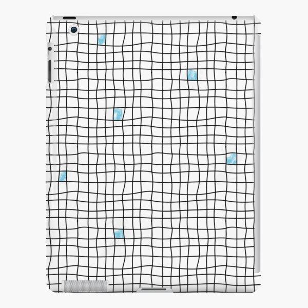 Carreaux - Blue Coque rigide iPad
