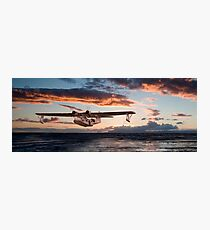 Catalina PBY  - Westering Home Photographic Print