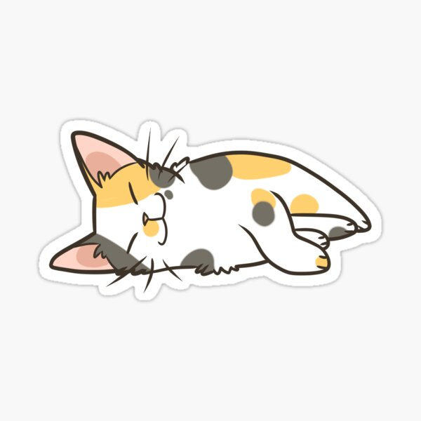 Sleeping Calico Sticker