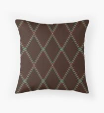 Vox-style vintage amplifier grill cloth Throw Pillow