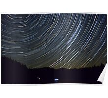 StarTrail Over the Julian Alps Poster