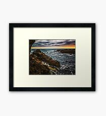 Cleansed by the waves Framed Print