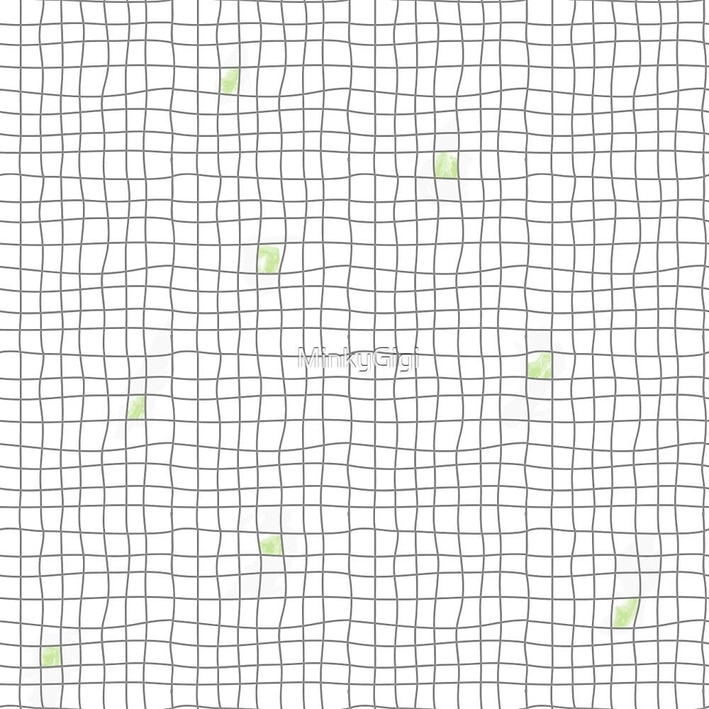 Carreaux - Grey/Green by MinkyGigi