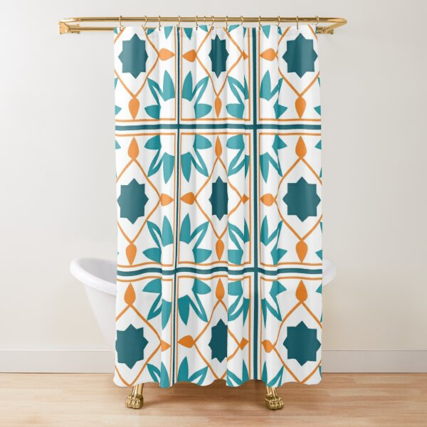 Cute Moroccan style patterns  Shower Curtain