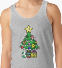 Super Mario - Mushroom Kingdom Christmas (Old) Men's Tank Top
