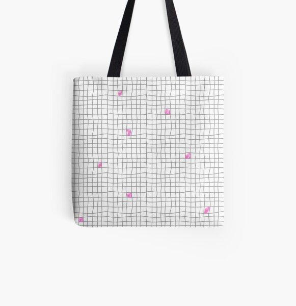Carreaux - Grey/Pink Tote bag doublé