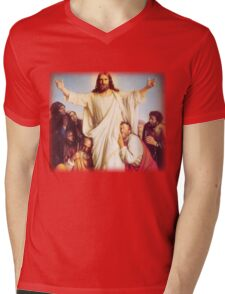 Carl Heinrich Bloch - Consolator Mens V-Neck T-Shirt