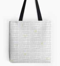 Carreaux - Grey/Yellow Tote Bag