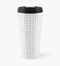 Carreaux - Grey/Yellow Travel Mug