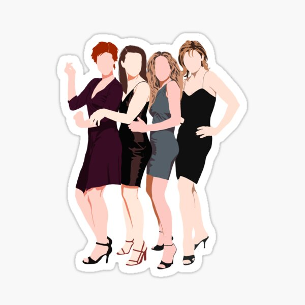 Sex and the City flat portrait drawing sticker Sticker