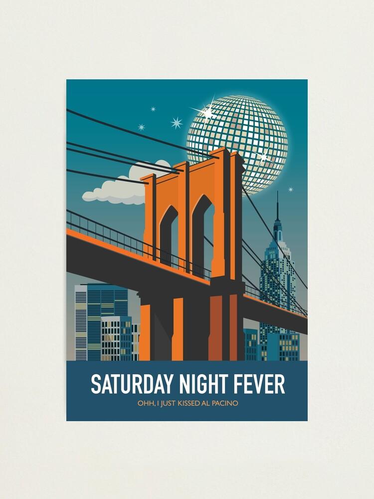 Alternate view of Saturday Night Fever - Alternative Movie Poster Photographic Print