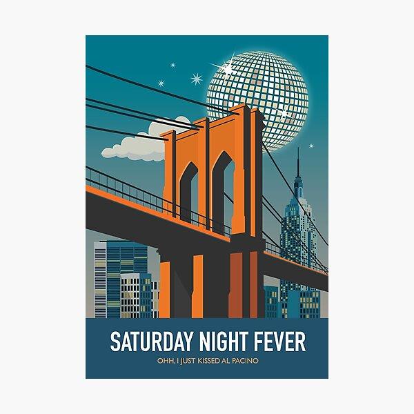 Saturday Night Fever - Alternative Movie Poster Photographic Print