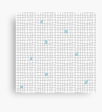 Carreaux - Grey/Blue Canvas Print