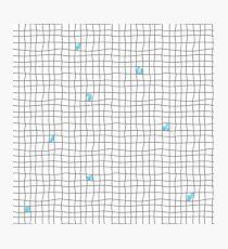 Carreaux - Grey/Blue Photographic Print