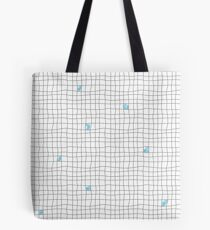 Carreaux - Grey/Blue Tote Bag