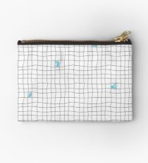 Carreaux - Grey/Blue Zipper Pouch