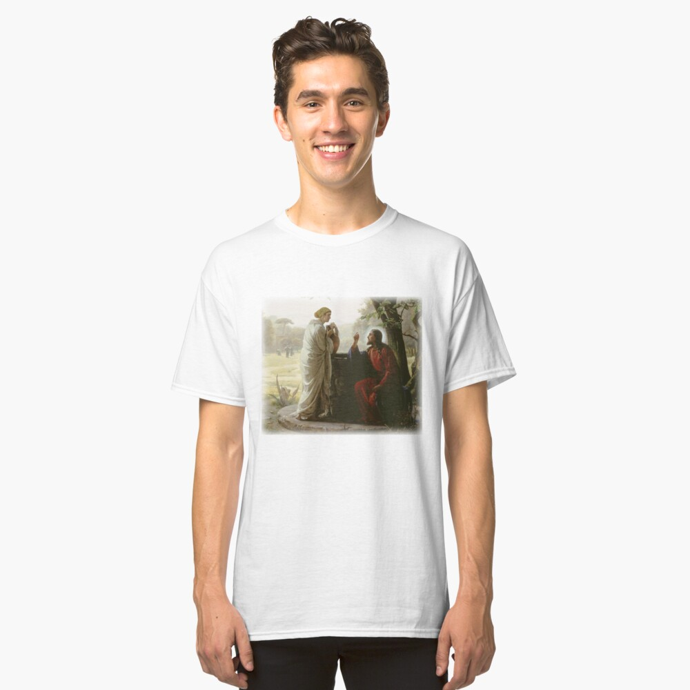 Carl Heinrich Bloch - Woman at the Well Classic T-Shirt Front