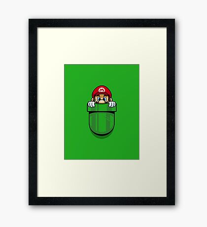 Pocket Plumber Framed Print