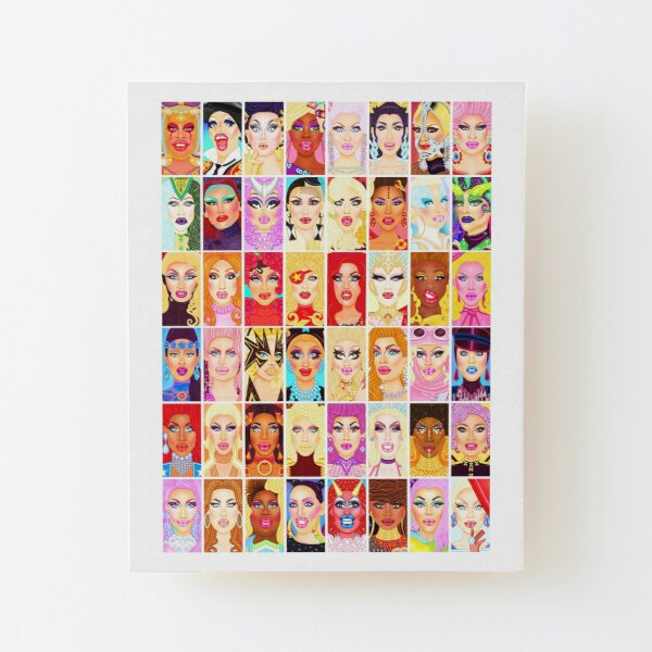DRAG QUEEN ROYALTY Wood Mounted Print
