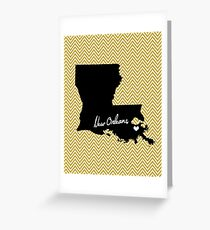 Home & Office Decor: New Orleans, Louisiana Print - Saints, Black and Gold Greeting Card