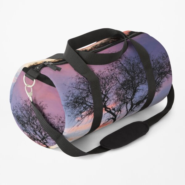 Sunrise Tree Silhouette Duffle Bag