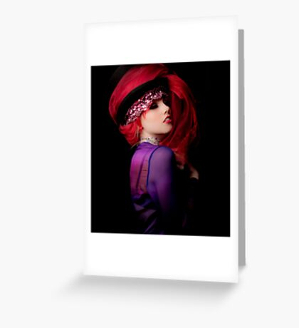 RED AND PURPLE 2 Greeting Card