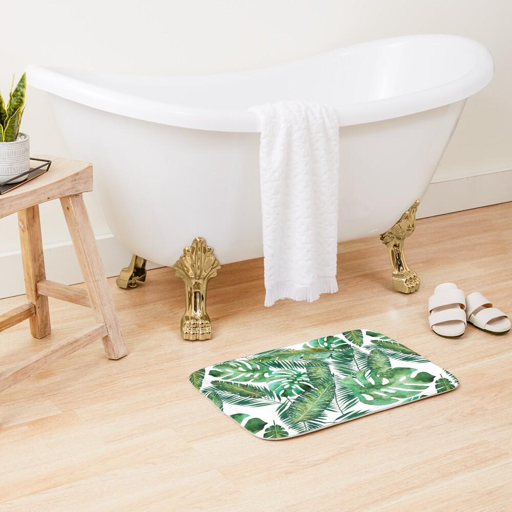 Monstera Banana Palm Leaf Bath Mat