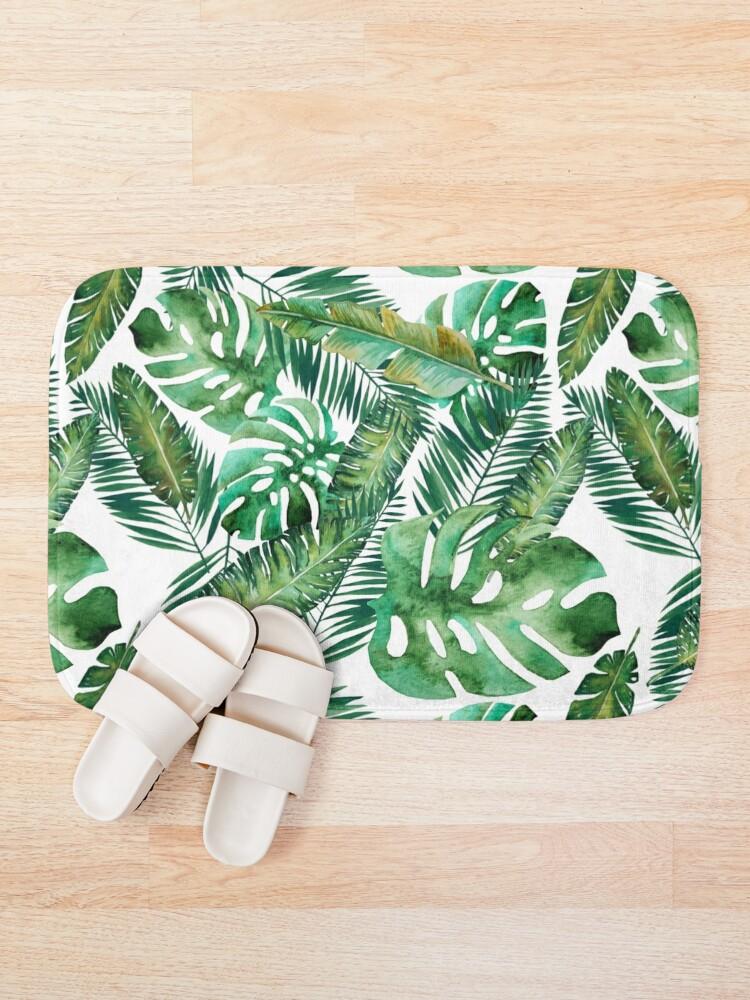 Alternate view of Monstera Banana Palm Leaf Bath Mat