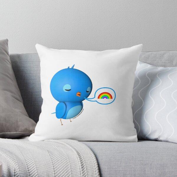 B.B. Bottoms - rainbow! Throw Pillow