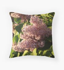 Lilacs in Idaho Throw Pillow