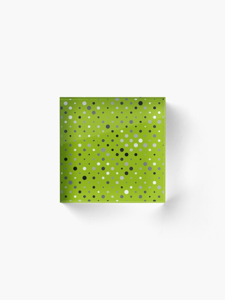Alternate view of Dots on apple green color background Acrylic Block