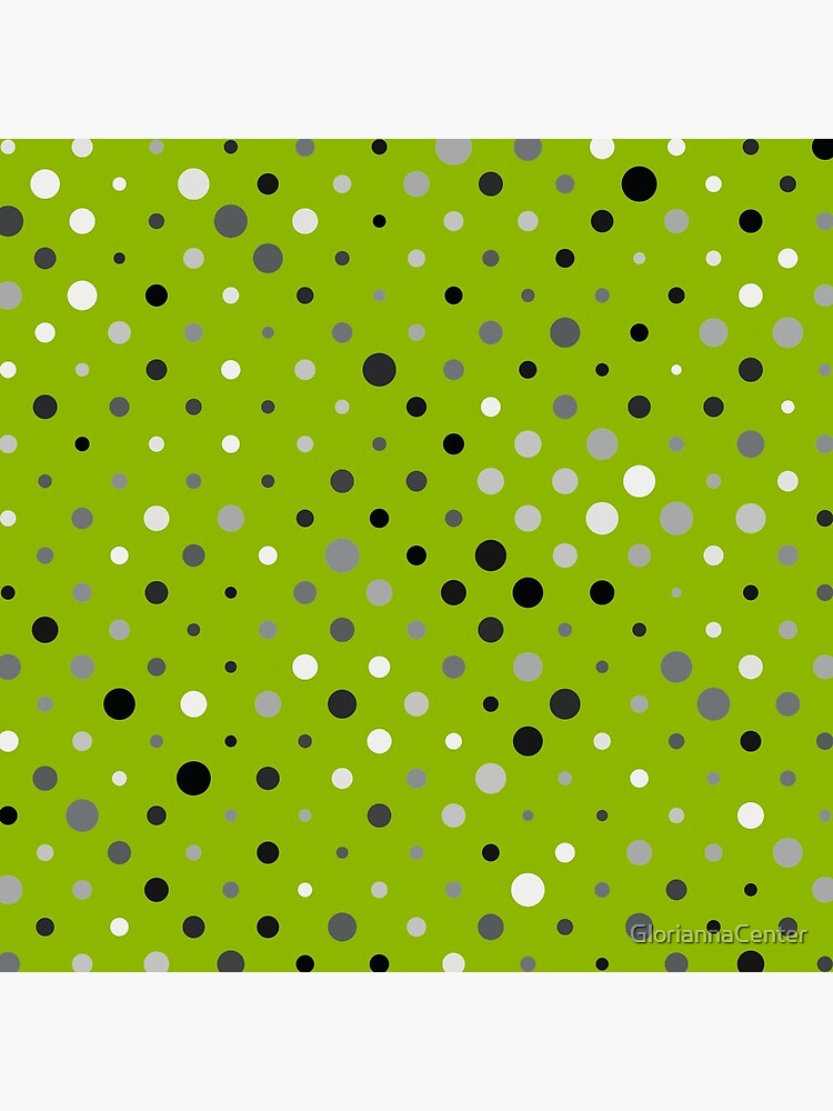 Dots on apple green color background by GloriannaCenter