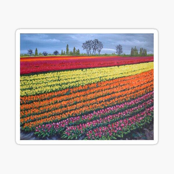 Tulip Field, Oregon Sticker
