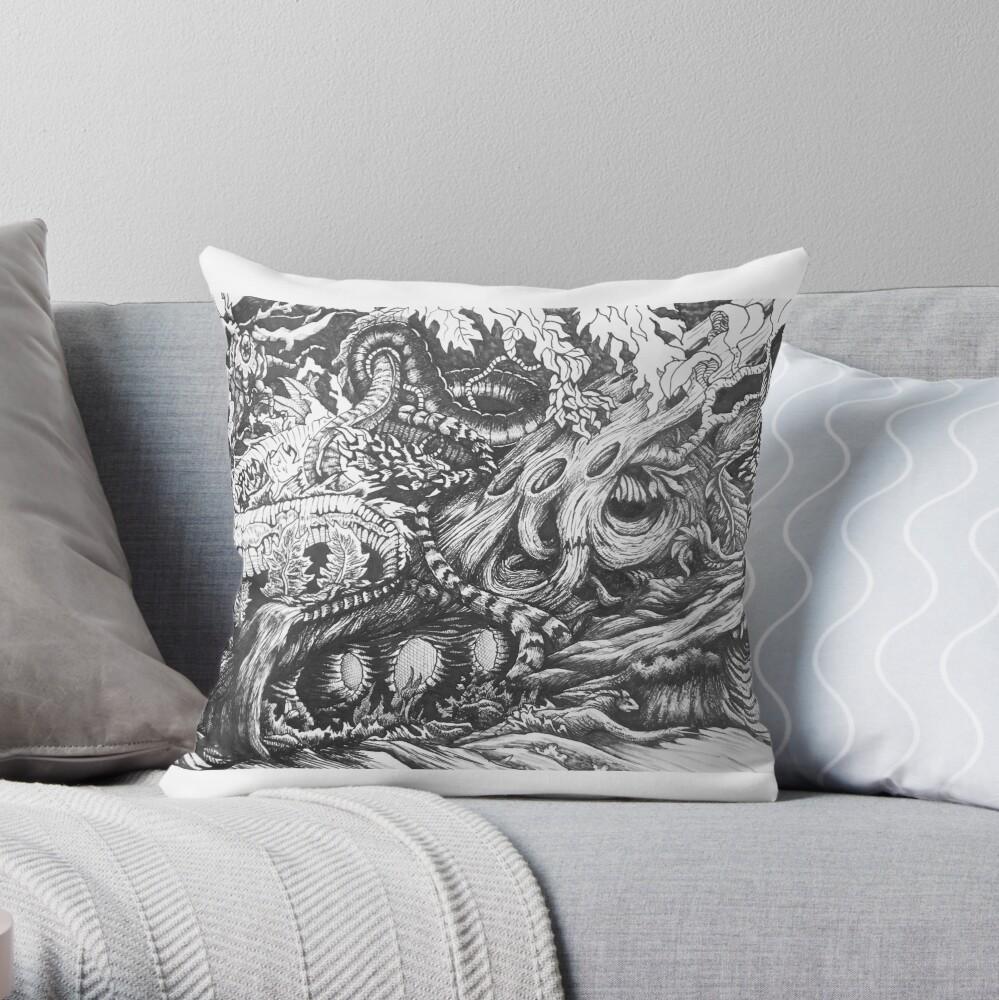 Enchanted Wood Throw Pillow