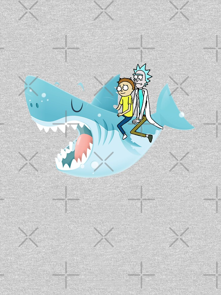 Rick and Morty Riding A shark by CrazyDots21