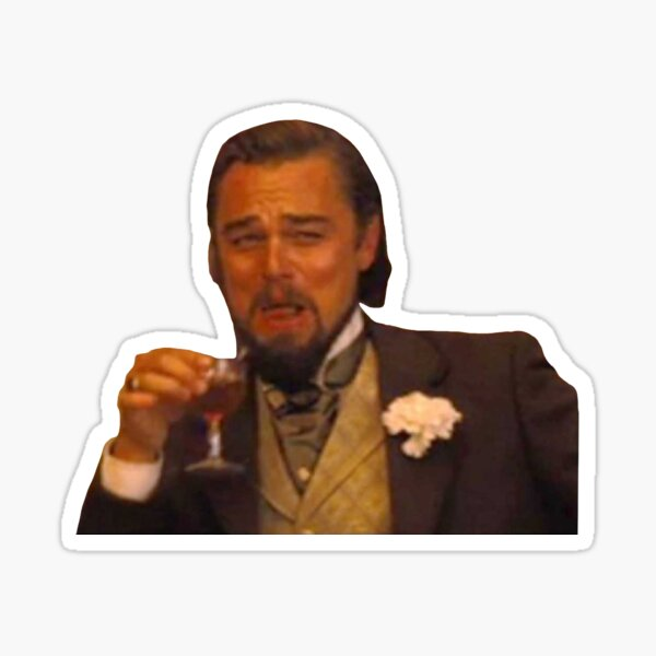 Leonardo DiCaprio Laughing Meme Sticker