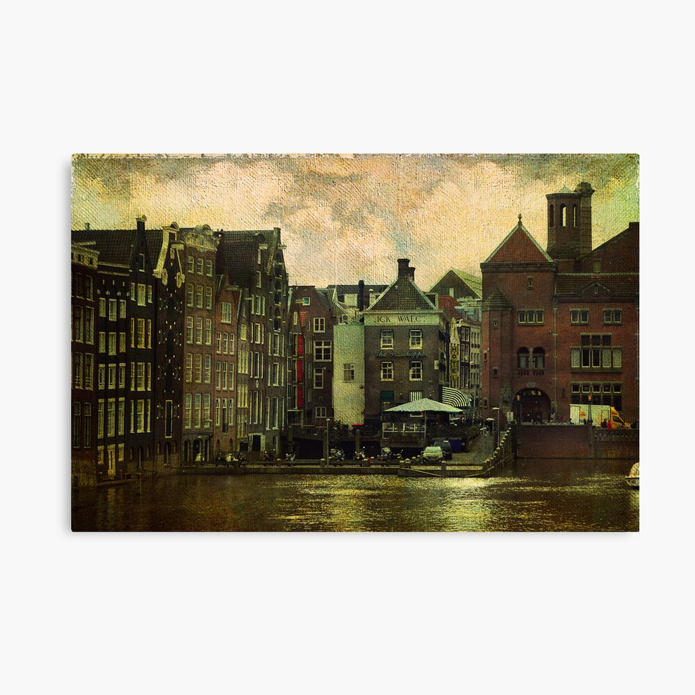 Painted Amsterdam Canvas Print