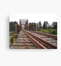 The Crookwell line - Wollondilly River bridge Canvas Print