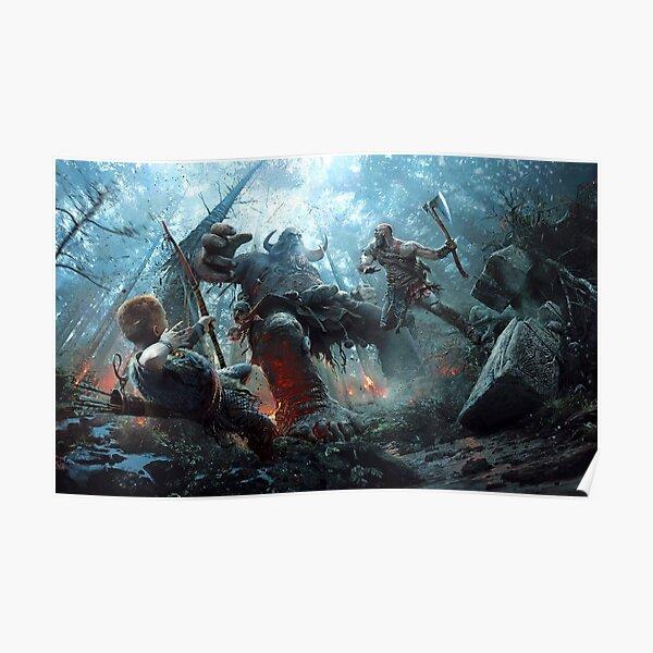 God of War 2019 - Obra de arte mejorada premium Póster
