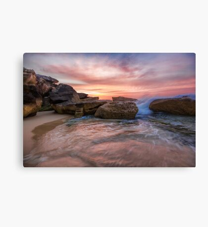 Tamarama Rocky Sunrise Canvas Print